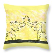 Jungle Love Throw Pillow