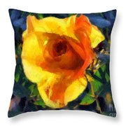 Jungle Rose Throw Pillow