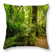 Jungle Scene Throw Pillow by Les Cunliffe