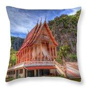 Jungle Temple V2 Throw Pillow