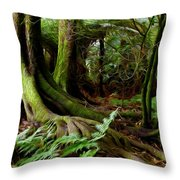 Jungle Trunks2 Throw Pillow by Les Cunliffe
