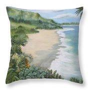 Jungle Waves Throw Pillow