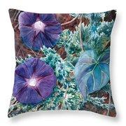 Juniper And Flowers Throw Pillow