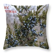 Juniper Berries - Merry Christmas Throw Pillow