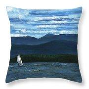 Juniper Island Lake Champlain Vt/ny Throw Pillow