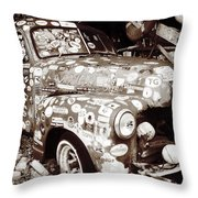 Junk Truck I Throw Pillow