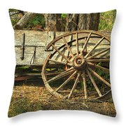 Junk Wagon Throw Pillow