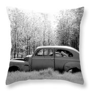 Junked Ford Car Throw Pillow