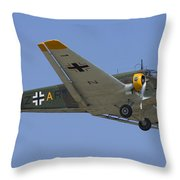 Junkers Ju-52 Throw Pillow