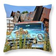 Junkyard Blues Throw Pillow