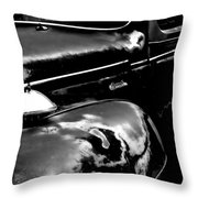 Junkyard Series Old Plymouth Black And White Throw Pillow