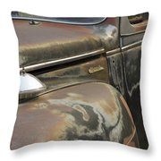 Junkyard Series Old Plymouth Throw Pillow