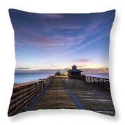 Juno Beach Pier Throw Pillow