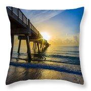 Juno Beach Sunrise Throw Pillow