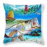 Jupiter Snook Throw Pillow