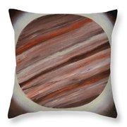 Jupiter Spectral Throw Pillow