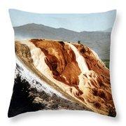 Jupiter Terrace Yellowstone National Park Throw Pillow