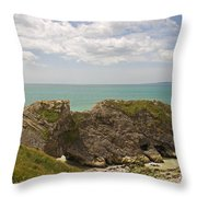 Jurassic Coast At Lulworth Throw Pillow