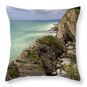 Jurassic Coast From Lulworth Cove Throw Pillow