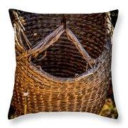Just A Basket Throw Pillow