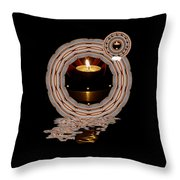 Just A Candle In The Wind Throw Pillow