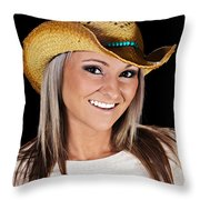 Just A Country Girl Throw Pillow