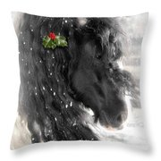 Just A Little Holly Will Do Throw Pillow