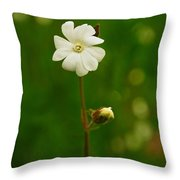 Just A Little White Flower Throw Pillow