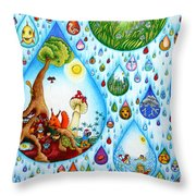Just A Small Drop Throw Pillow