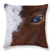 Just A Touch Of Blue Throw Pillow