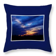 Just About Night Throw Pillow