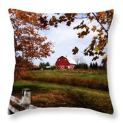Just Across The Fence Throw Pillow