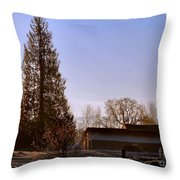 Just After Dawn Throw Pillow