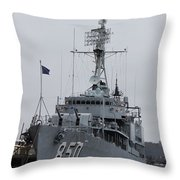 Just Another Battleship Photo Of The Uss Joseph P Kennedy Jr  Throw Pillow