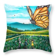 Just Another Monarch Monday Throw Pillow