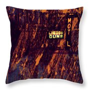 Just Another Night Throw Pillow