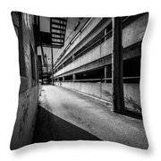 Just Another Side Alley Throw Pillow