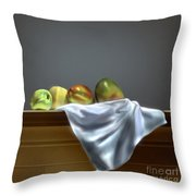 Just Apples And Mangos  Throw Pillow