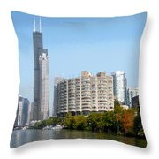 Just Around The River Bend Throw Pillow