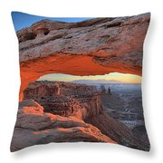 Just Before Sunrise At Canyonlands Throw Pillow