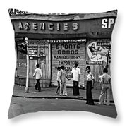 Just Buddies Bw Throw Pillow
