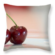 Just Cherry Throw Pillow
