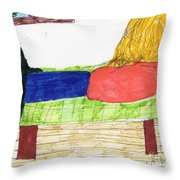 Just Chillin Throw Pillow