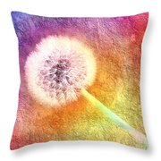 Just Dandy A Colorful Dream Throw Pillow