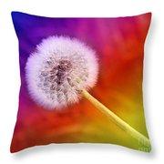 Just Dandy Rainbow Throw Pillow
