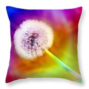Just Dandy Taste The Rainbow Throw Pillow