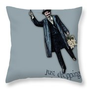 Just Dropping In Valentine Throw Pillow