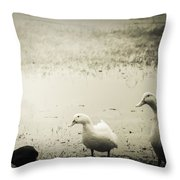 Just Duckie  Throw Pillow
