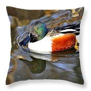 Just Ducky Throw Pillow