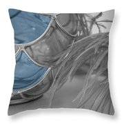 Just Enough Blue Throw Pillow